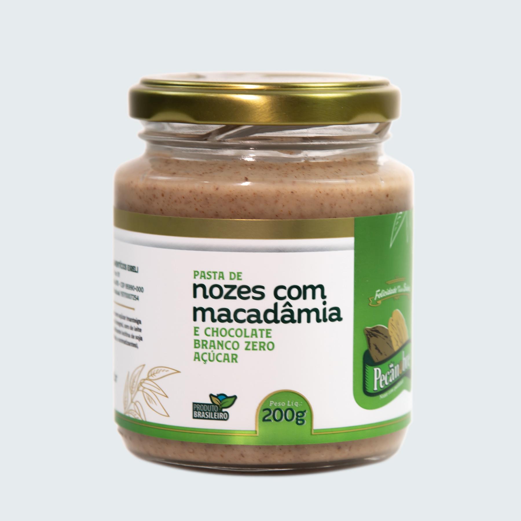PASTA DE NOZES COM MACADÂMIA E CHOCOLATE ...