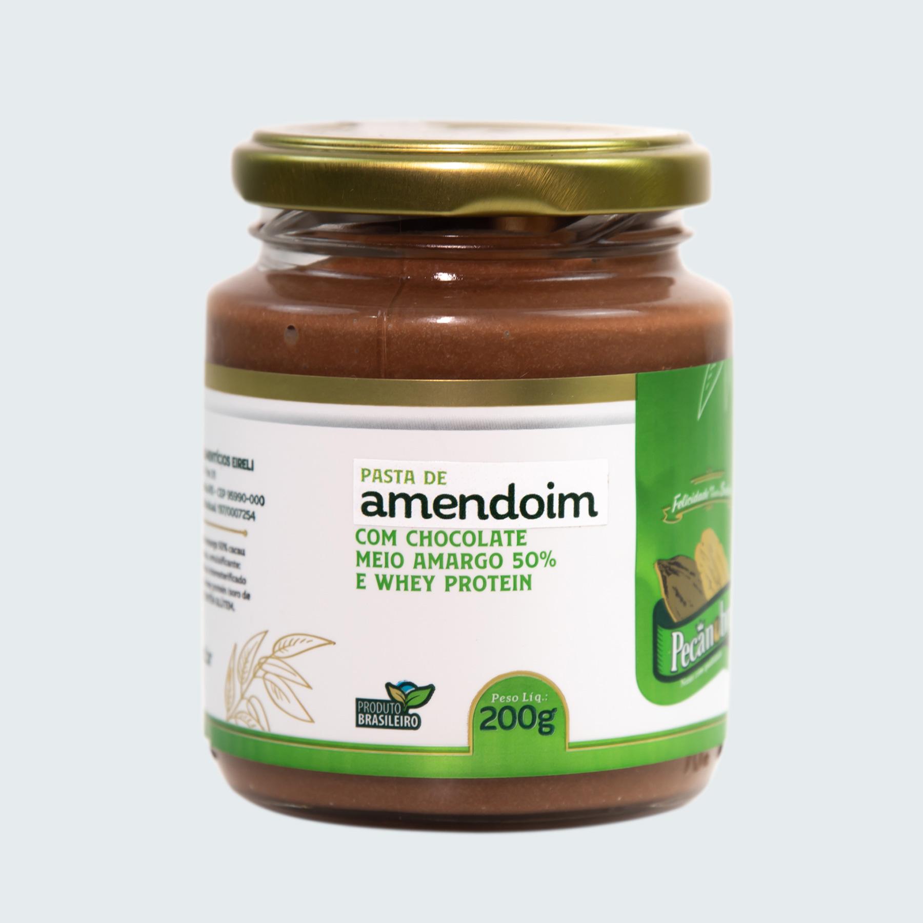 PASTA DE AMENDOIM COM CHOCOLATE 50% CACAU...